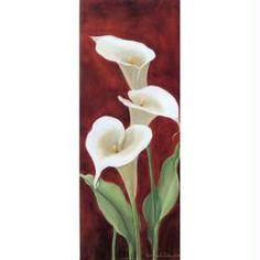 Image 3D Fleur - 3 arums 20 x 50 cm