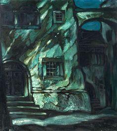 Oskar Mulley (Austrian, 1891–1949). Nachtstimmung [Night] c.1919.