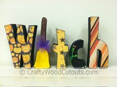 Witch Letters Wood Craft Cutouts