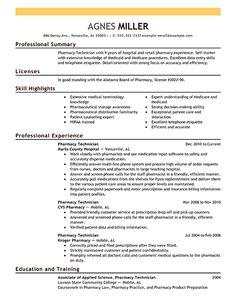 pharmacy technician resume sample no experience creative