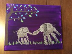 Elephant handprints OMG for Tristan Ethan to do together!!!!