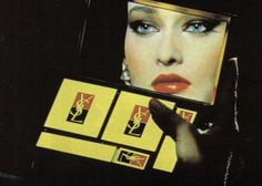 ad for Yves St. Laurent makeup Joanne Catherall and Susan Ann Sulley of the Human League . 1980s Makeup, Vintage Makeup Ads, Retro Makeup, Vintage Ysl, Mode Vintage, Vintage Beauty, Vintage Fashion, Vintage Ideas, 80s Fashion
