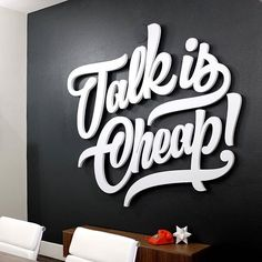 Awesome type installation. Type by @markcaneso | #typegang if you would like to be featured | typegang.com