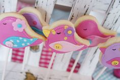 Baby Bird Baby Sprinkle - Baby Shower Party Ideas - Kara's Party Ideas - The Place for All Things Party Bird Cookies, Cupcake Cookies, Sugar Cookies, Cookie Favors, Birthday Cookies, Bolacha Cookies, Galletas Cookies, Sprinkle Party, Baby Sprinkle