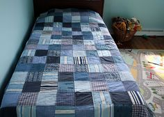 Denim and boxers quilt. Never would have thought of it, but cool.