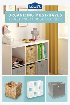 From baskets to shelves, we have what you need to organize your space. Cute Bedroom Ideas, Tuscan Decorating, Home Decor Furniture, My New Room, Room Organization, Plank, Bedroom Decor, Baskets, Shelves
