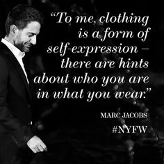 What better way to kick off the final day of #NYFW than with a quote from #marcjacobs? The designer's #FW15 collection will be the grand finale to a snowy yet stylish week.