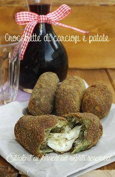 crocchette di carciofi e patate con scamorza filante fritte o al forno in padella ricetta polpette di carciofi
