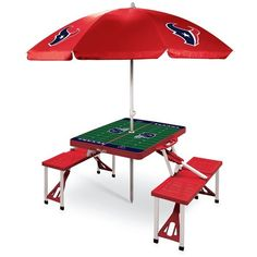 Picnic Time Team Football Field Design Portable Picnic Table With... ($228) ❤ liked on Polyvore featuring home and outdoors