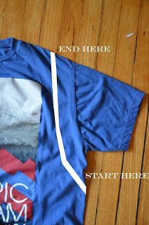 DIY Projects: HOW TO: No Sew Tank Top from an Old T-Shirt