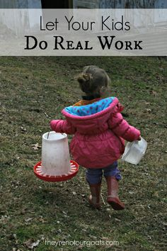 Sometimes we feel apprehensive of giving our kids REAL jobs around the house- myself included! Here are some great reasons why you should give your children real work to do.