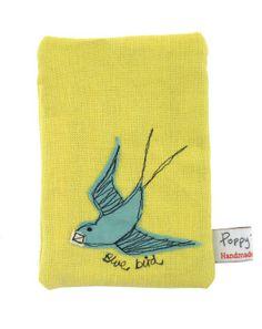 Blue bird by Poppy Treffry Freehand Machine Embroidery, Free Motion Embroidery, Machine Embroidery Applique, Happy Birthday Mary, Applique Templates, Thread Art, Hand Applique, Fabric Birds, New Gadgets