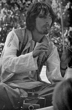 George Harrison in India. Scanned from Beatle Book Monthly