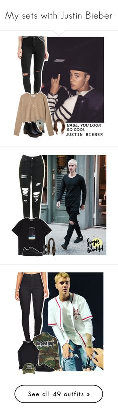 """My sets with Justin Bieber"" by jaylene-riveroromero ❤ liked on Polyvore featuring Justin Bieber, Topshop, cute, NightOut, JustinBieber, belieber, Beliebers, Retrò, adidas and River Island"