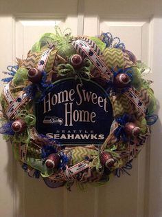 Super Bowl Seattle Seahawks Wreath on Etsy, $90.00