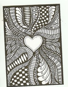 Doodle Art Patterns Design Inspiration Ideas For 2019 Easy Doodle Art, Doodle Art Drawing, Cool Art Drawings, Zentangle Drawings, Zentangle Patterns, Flower Drawings, Zentangles, Easy Mandala Drawing, Mandala Art Lesson