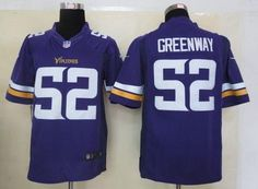 Nike Vikings #52 Chad Greenway Purple Team Color Men's Embroidered NFL Limited Jersey!$24.50USD
