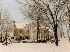 Winter at Graceland in the 50's