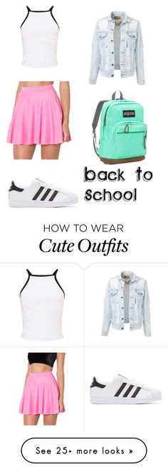 """""""#221 Back To School Outfit"""" by tori-k-meow on Polyvore featuring Miss Selfridge, adidas Originals and JanSport"""