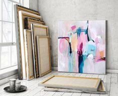 Original abstract paintings fine art giclee by SarinaDiakosArt