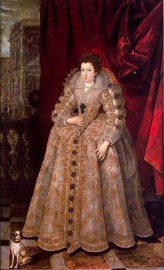 Anne d'Autriche, infante d'Espagne, reine de France, peu après son mariage, par Pourbus