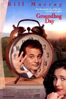 Groundhog Day, because if Bill Murray is up for spending day after day to improve himself, than so can you. Also, BILL MURRAY. Bill Murray, See Movie, Movie List, Movie Tv, They Live Movie, Epic Movie, Movie Titles, Groundhog Day Film, Groundhog Day