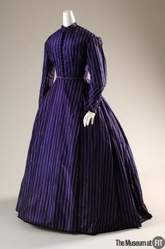 c. 1860 silk taffeta dress @ FIT--This would be an awesome frock for Lilith to wear to Grand Masquerade. Heck, that fabric as an evening gown!