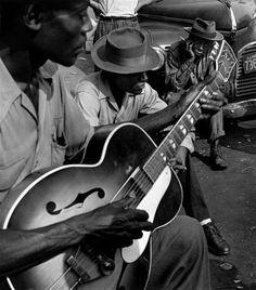 Blues at the Maxwell Street flea market, Chicago 1947 by Wayne Miller
