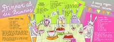 Illustrated recipes I created for They Draw & Cook. Food Illustrations, Illustration Art, Food Menu, Bunny, Gallery, Cooking, Drawings, Recipes, Behance