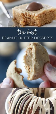 The Best Peanut Butter Desserts - My Favorite Peanut Butter Desserts #peanutbutter #cake #dessert #recipe #cookie #snack #desserts New Year's Desserts, Cute Desserts, Christmas Desserts, Christmas Recipes, Christmas Cookies, Delicious Desserts, Candy Recipes, Baking Recipes, Cookie Recipes