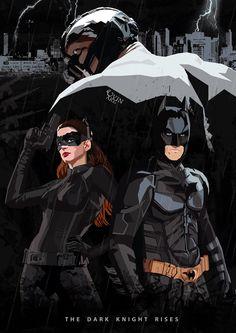 The Dark Knight Rises Poster (Fan Art) by Uvin Gunasena, via Behance The Dark Knight Trilogy, The Dark Knight Rises, Comic Books Art, Comic Art, Batman Dark, Batman Begins, Comic Games, Marvel Vs, Disney Fan Art