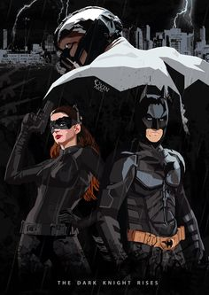 The Dark Knight Rises Poster (Fan Art) by Uvin Gunasena, via Behance