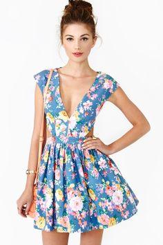 Fresh Cut Dress in Chambray