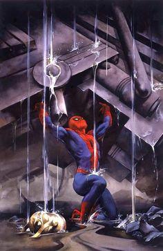 Classical Spiderman moment go spider go go Marvel Venom, Marvel Art, Marvel Heroes, Marvel Avengers, Spiderman Tattoo, Spiderman Art, Amazing Spiderman, Alex Ross, Marvel Universe