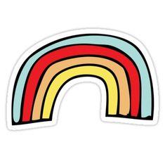 'Rainbow' Sticker by vanessavolk Meme Stickers, Tumblr Stickers, Phone Stickers, Printable Stickers, Red Bubble Stickers, Wallpaper Iphone Cute, Trendy Wallpaper, Aesthetic Stickers, Sticker Design