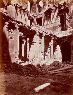 Tuileries, after 1871 fire, interior., Siege of Paris, Special Collections, Northwestern University Library