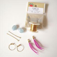 天然石 ワイヤー包みのイヤリング(ピアス)作り方! | 簡単DIY!numakoのブログ