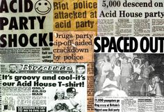 1988 An acid house party was a type of illegal party typically staged in warehouses in 1987-89. In the UK, the most famous illegal party promoters were Genesis'88, Sunrise,  Due to the association of illegal party drugs such as MDMA (ecstasy)  law enforcement attention has been directed at the rave scene in many countries.Energy. Eventually the acid house parties morphed into the modern rave scene