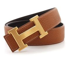 Brown Hermes belt with gold H buckle Was too small on me so I'm selling for the same price as I bought it! $200 US dollars. Beautiful leather and honestly looks 100 percent real. The stitching is the same as the picture and the belt is currently wrapped up back in the box and packaging and ready to ship! Hermes Accessories Belts
