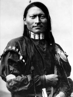 Red Armed Panther, Cheyenne scout, sometimes called Red Sleeve. Fort Keogh, Montana, 1879. L.A. Huffman photographic portrait.