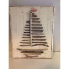Love this! Etsy listing at https://www.etsy.com/listing/227451862/driftwood-sailboat-canvas-canvas-art
