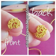 Chiacchierino facilissimo: spiral rings with treble tatting Needle Tatting, Tatting Lace, Needle Lace, Plastic Canvas Tissue Boxes, Plastic Canvas Patterns, Tatting Tutorial, Tutorial Crochet, Lace Ring, Crochet Bookmarks