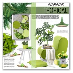 """""""summer tropical"""" by nanawidia ❤ liked on Polyvore featuring interior, interiors, interior design, home, home decor, interior decorating, Blu Dot, Rosenthal, Dot & Bo and Cultural Intrigue"""