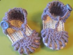 Cute crocheted baby sandals: That my wonderful, gracious sister Sarah will someday: (aka billions of miles down the road) make for my baby girl:)