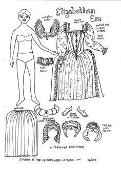 Paper Dolls Period Research Tudor And Elizabethan