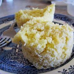 Lemon~Coconut Muffin/Cake in a Mug ~S {Trim Healthy Mama, Paleo, GAPS, Dairy Free, SCD, Grain Free, Nut Free}   Counting All Joy