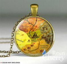 THE WIZARD OF OZ map necklace