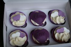 purple-anniversary-cupcakes ~ http://womenboard.net/different-wedding-anniversary-cakes/
