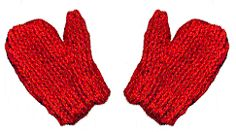 Doll Mittens pattern. Just made one of these - my first ever mitt! Easy to follow and construct.