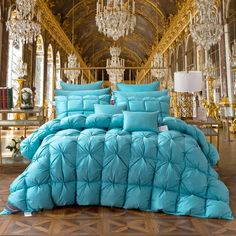 DecBest White Goose Down Quilt Large Comforter Duvet Blanket Winter Full Queen King Size Bedding is fashion & kawaii, see other throw blanket on NewChic Mobile. Full Size Comforter, Blue Comforter, Down Comforter, Duvet Bedding, Comforter Sets, Console, Down Quilt, Warm Blankets, Bedding Collections